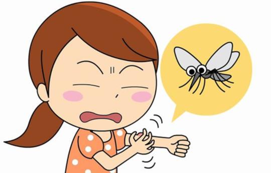 укусил комар
